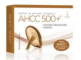 AHCC 500+ (30 ou 60 Capsules Végétales de 500mg dont 20mg de Vitamine C) - Symactive