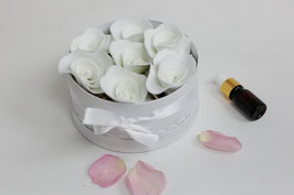 Infinity Filz-Rosenbox/ infinity felt rose box A) Weiß/White