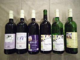 Bunte Hausweinkiste inkl. 6 Pfandflaschen