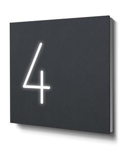 """Hausnummern """"4…"""" - RAL7016 anthrazit - beleuchtet"""