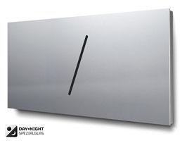 Materialvariante Aluminium für beleuchtete Doppelhaus-Hausnummern