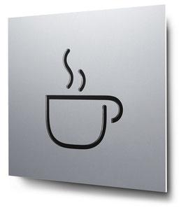 Café konturgeschnitten in Aluminium, Art. PT006CC0010