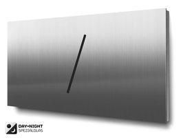 Materialvariante Edelstahl für beleuchtete Doppelhaus-Hausnummern