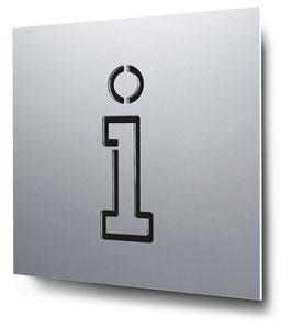 Information konturgeschnitten in Aluminium, Art. PT010CC0010