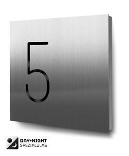 """Hausnummern """"5…"""" - Edelstahl - beleuchtet"""