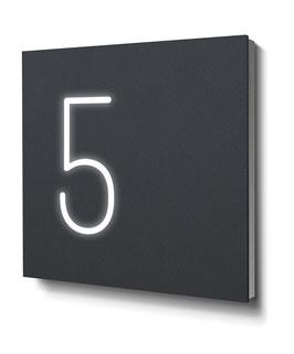 """Hausnummern """"5…"""" - RAL7016 anthrazit - beleuchtet"""