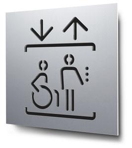 Aufzug konturgeschnitten in Aluminium, Art. PT013CC0010
