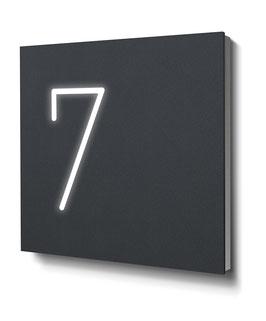 """Hausnummern """"7…"""" - RAL7016 anthrazit - beleuchtet"""