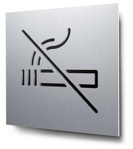Rauchverbot konturgeschnitten in Aluminium, Art. PT012CC0010