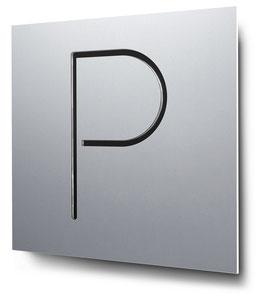 Parkplatz konturgeschnitten in Aluminium, Art. PT014CC0010