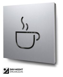 Café beleuchtet in Aluminium, Art. PT006L0010