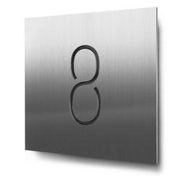 "Hausnummer ""8"" konturgeschnitten in Edelstahl, Art. HN185CC0030-8"