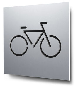 Fahrradstellplatz konturgeschnitten in Aluminium, Art. PT015CC0010
