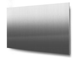 Materialvariante Edelstahl für konturgeschnittene 3-stellige Hausnummern