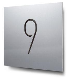 """Hausnummer """"9"""" konturgeschnitten in Aluminium, Art. HN185CC0010-9"""