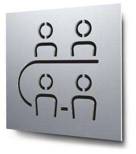 Konferenzraum konturgeschnitten in Aluminium, Art. PT008CC0010