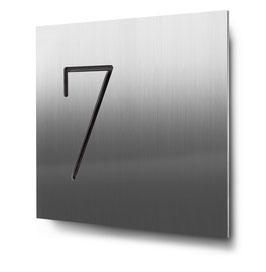 """Hausnummern """"7…"""" konturgeschnitten in Edelstahl"""