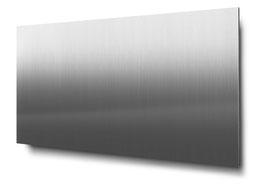 Materialvariante Edelstahl für konturgeschnittene 4-stellige Hausnummern