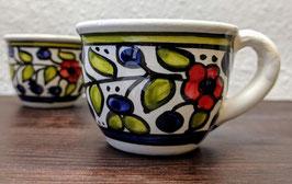 Espressotassen Bunte Blumen 2er Set