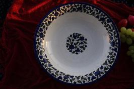 Große Servierschüssel Blau-Weiß 33 cm