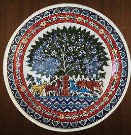 Riesige Obstschüssel 34 cm Baum des Lebens