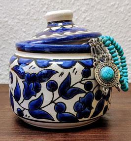 Dekorative Dose Blau