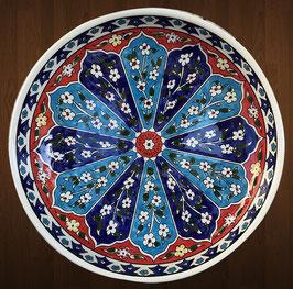 Riesige Obstschüssel 34 cm Armenische Blumen