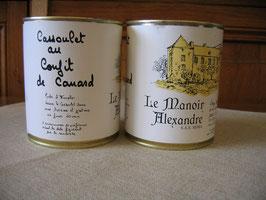 Cassoulet au confit de canard, 840 g