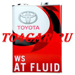 Оригинальное масло АКПП Тойота Прадо 120 4.0 249 лс 2002-2009 (TOYOTA PRADO 120) TOYOTA ATF WS (4л) 0888602305
