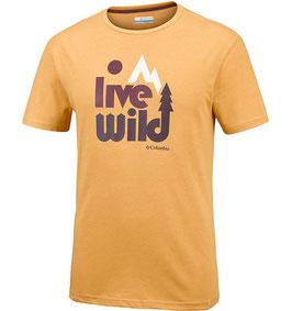 Herren T- Shirt - live wild & keep it wild