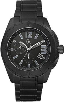 【GUESS COLLECTION】ゲスコレクション 腕時計 Sport Class XXL Ceramic (スポーツクラスXXL セラミック) オールブラック×シルバー X76011G2S