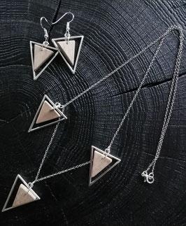 Parure Bois & Métal Triangle