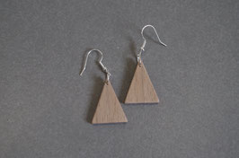Bijou bois minimaliste Triangle plein