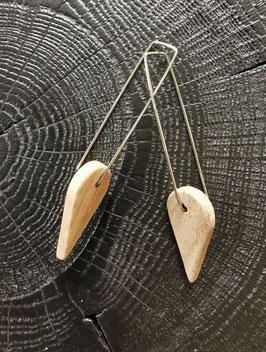 Boucles d'oreilles Bois Quadrat