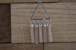 Clous d'oreilles en bois triangle métal TRIGOLO