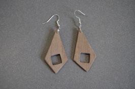 Bijou bois minimaliste Trapèzes carrés