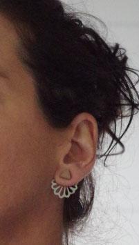 Clous d'oreilles en bois et métal RETRO