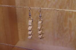 boucles d'oreilles en bois ZIGZAG