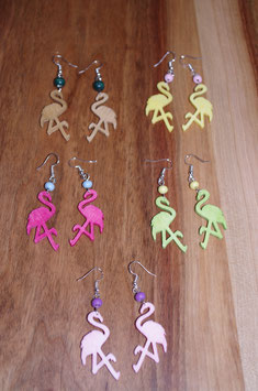 Boucles d'oreilles TROPICAL FLAMINGO