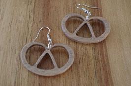 Boucles d'oreilles en bois bretzel