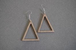 Bijou bois minimaliste Triangle évidé