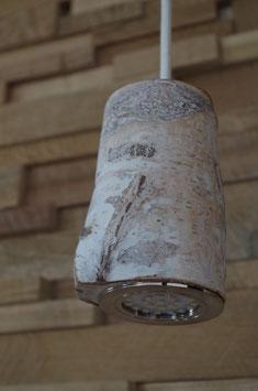 Lampe suspension, branche de bouleau 1 BRANCHE #L1BP01
