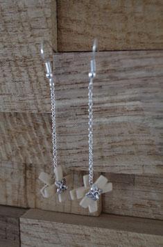 Boucles d'oreilles pendantes Bois Flocons
