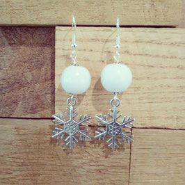 BOUCLES XMAS FLOCON