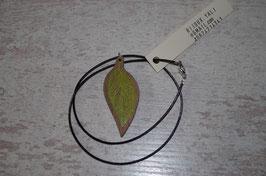 COLLIER Végétaux Feuille vert poison