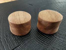 Ecarteurs oreille en bois noyer sur-mesure