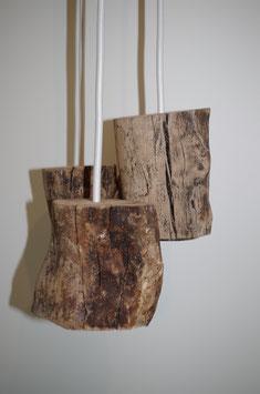 Lampe suspension, branches de hêtre 3 BRANCHES # L3H01