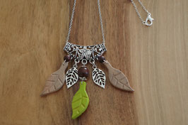 COLLIER EDELWEISS BRELOQUES FEUILLES - ED31