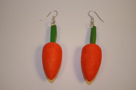 Boucles d'oreilles en bois carottes
