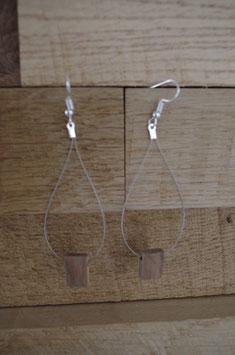 Boucles d'oreilles Bois Goutte câble